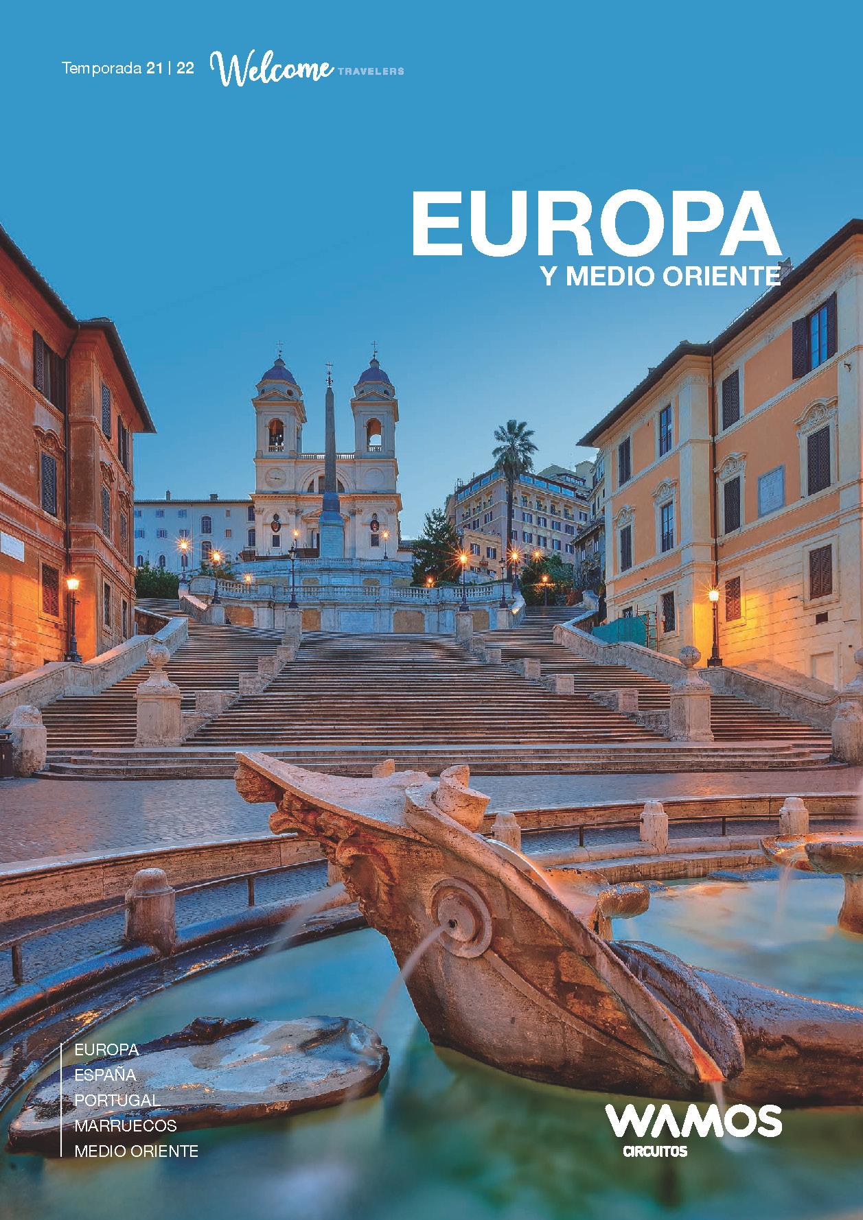 Catalogo Wamos Circuitos Europa y Medio Oriente 2021-2022