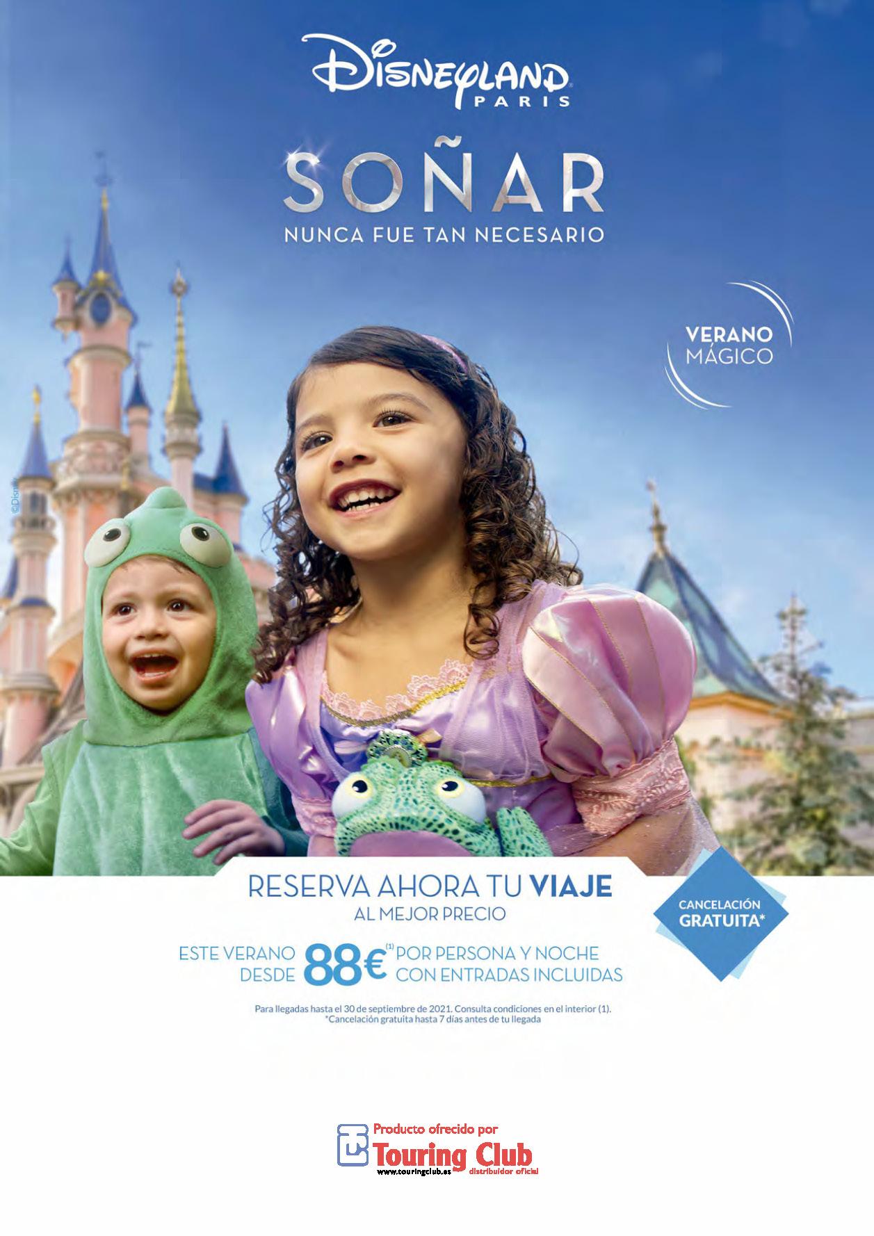 Cuadriptico Touring Club Disneyland Paris Verano Magico 2021-2022