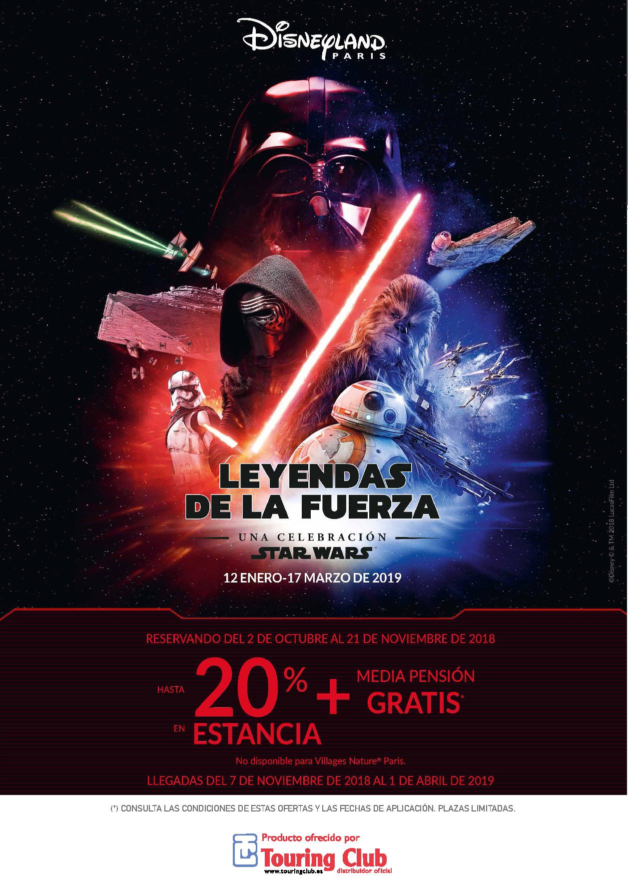 Cuadriptico Touring Club Leyendas de la Fuerza Invierno 2018-2019