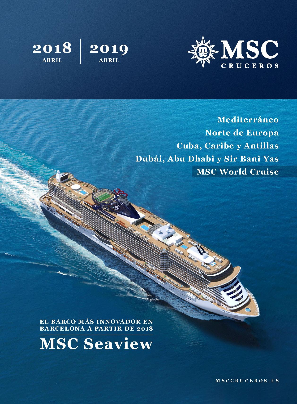 Cubierta Catalogo MSC 2018-2019