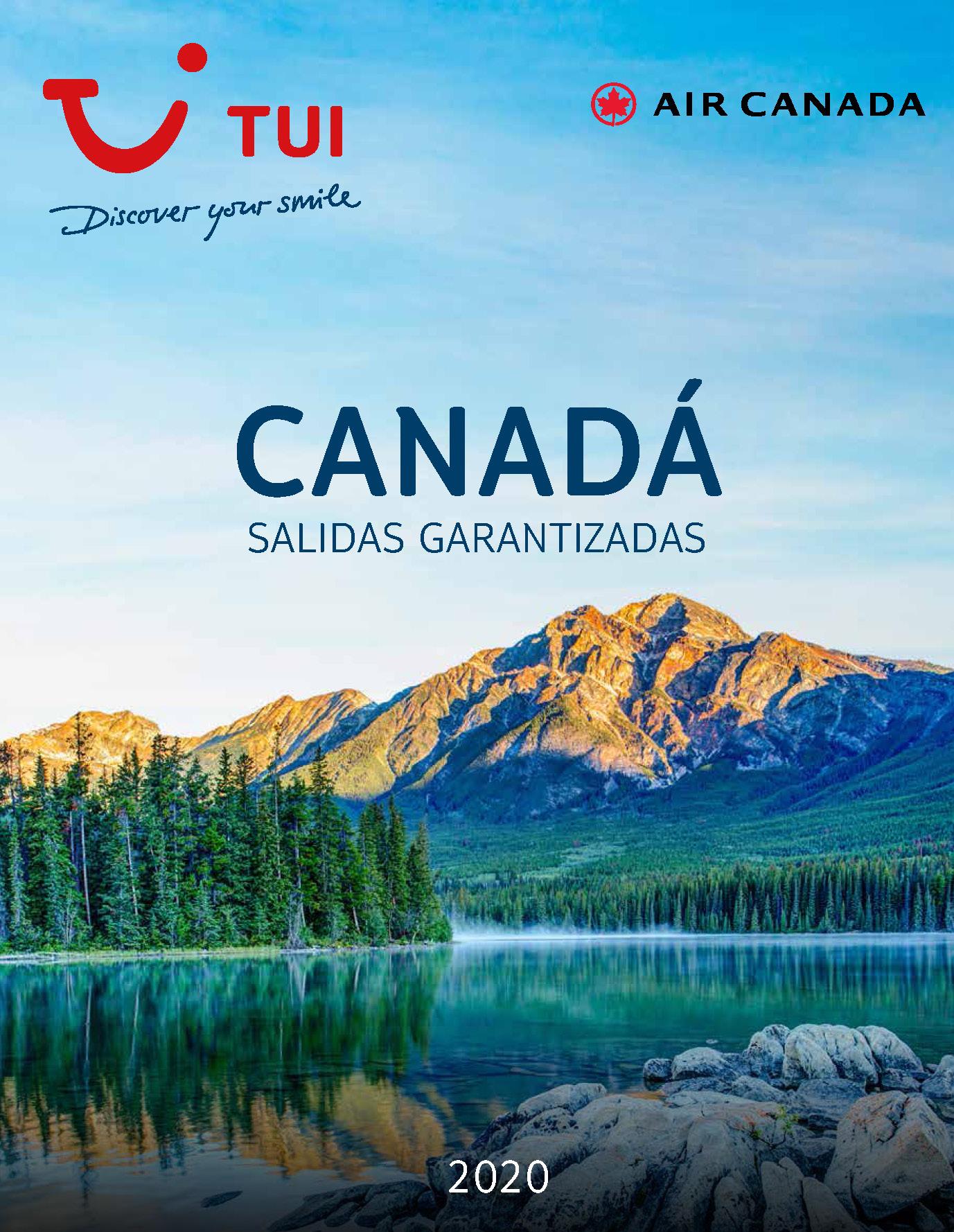 Diptico TUI Ambassador Tours Canada 2020
