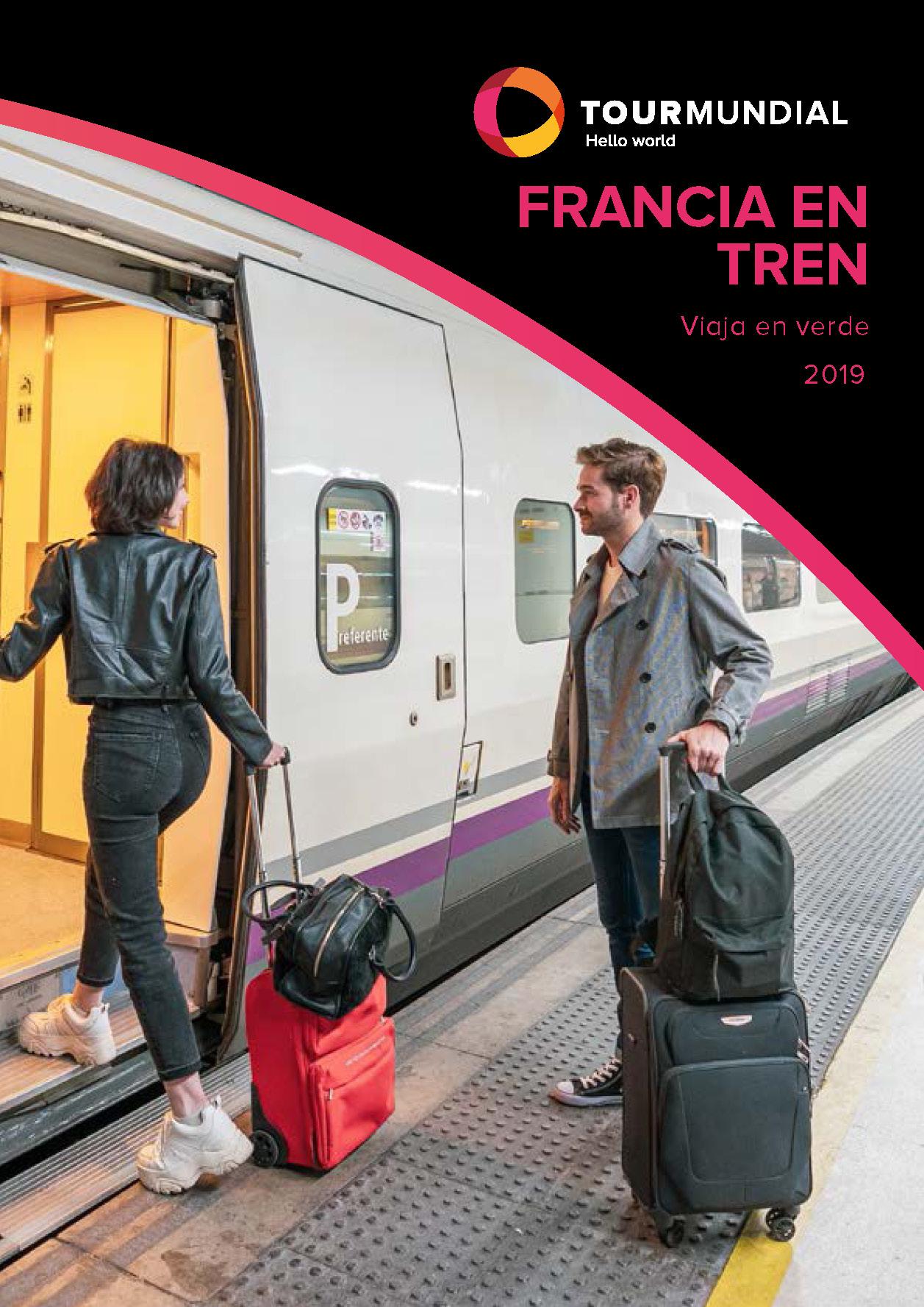 Diptico Tourmundial Francia en Tren 2019