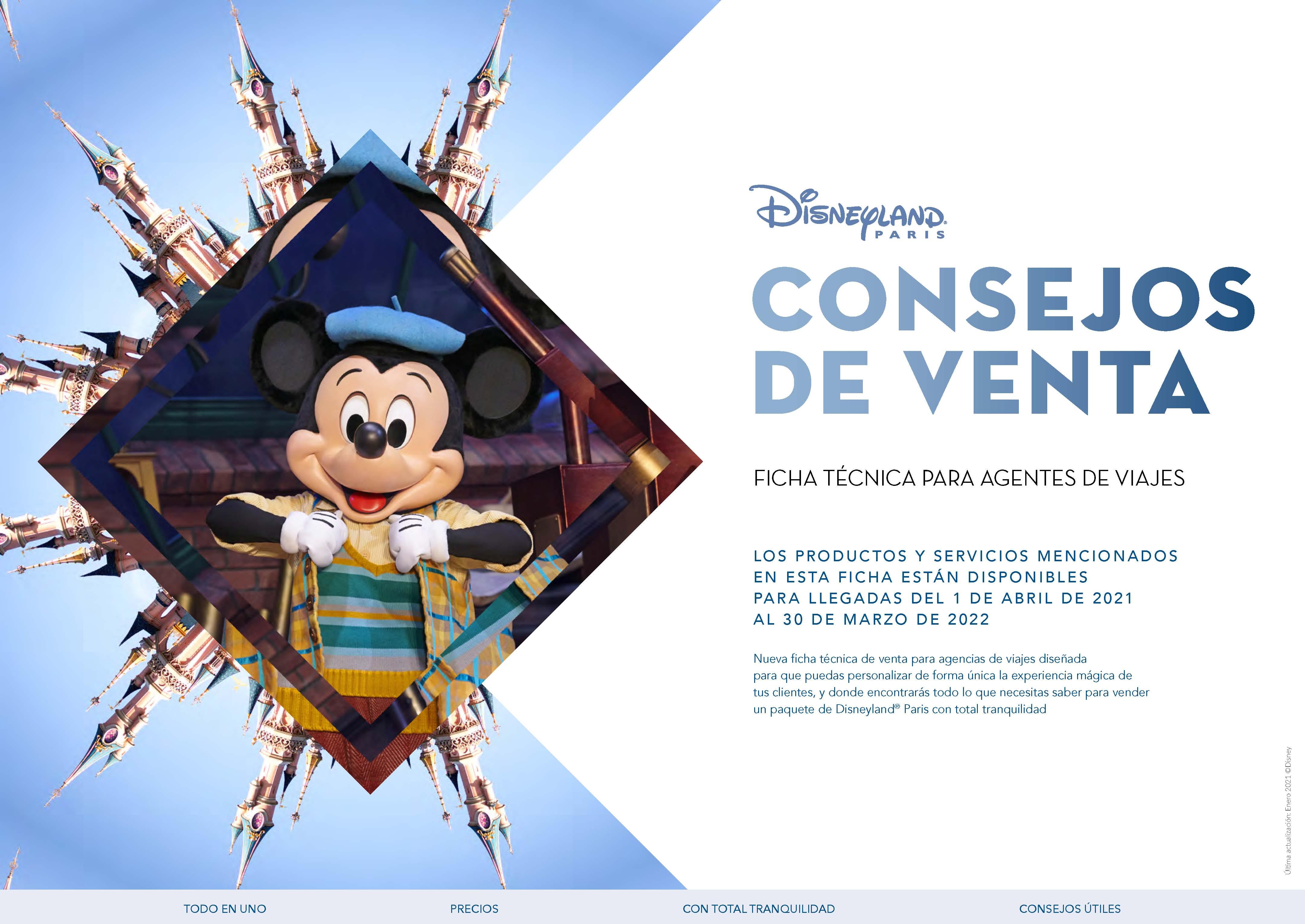 Ficha Tecnica Consejos de Venta Disneyland Paris 2021