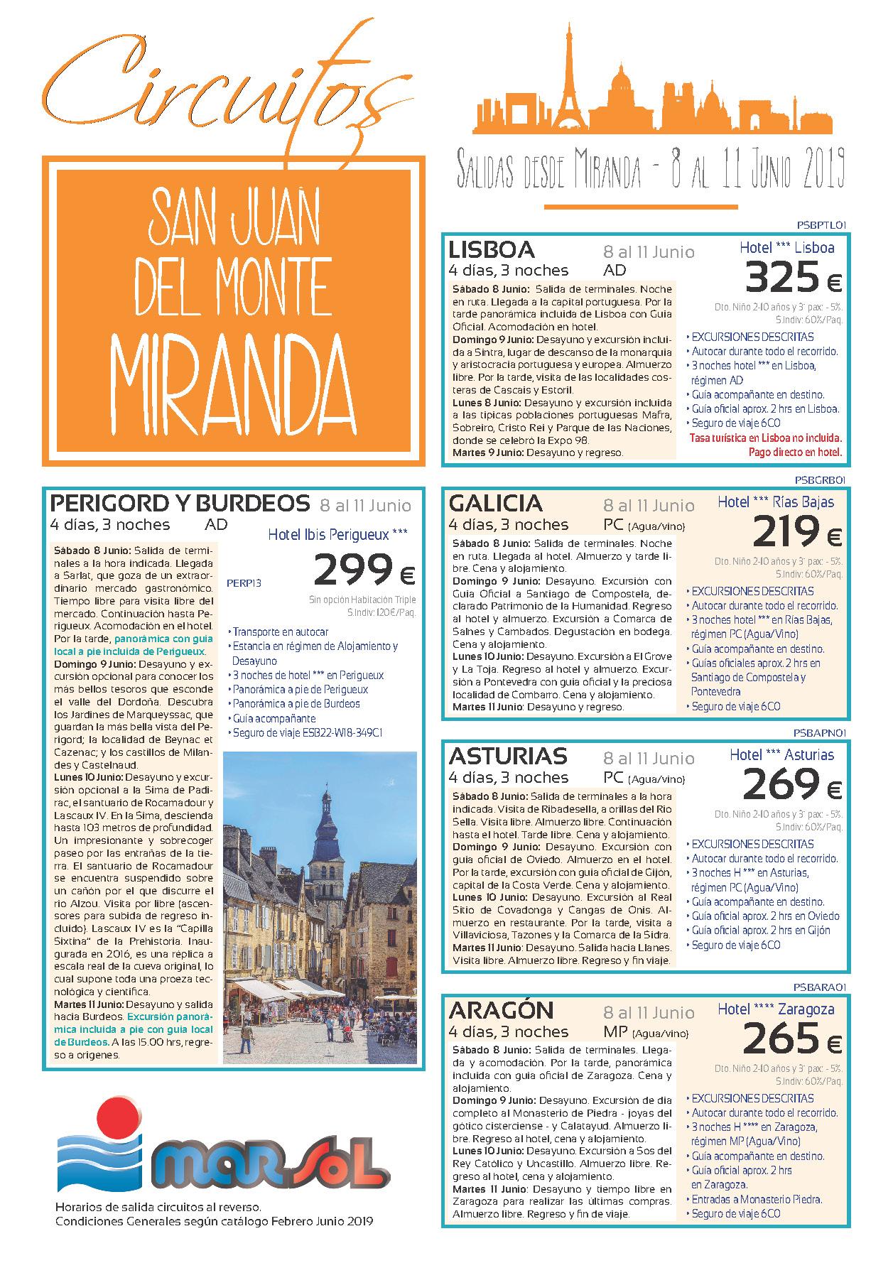 Folleto Marsol San Juan Monte Miranda 2019