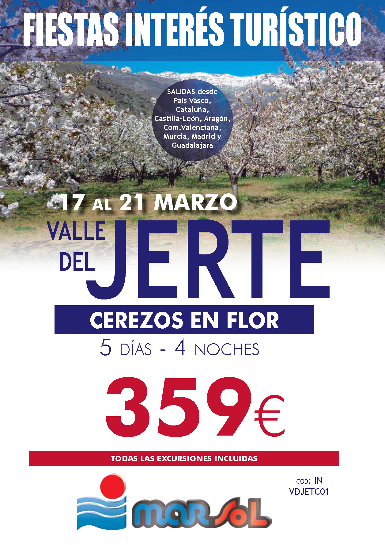 Folleto Marsol VALLE DEL JERTE 2019
