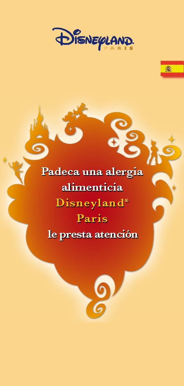 Guia Disneyland Paris alergias alimentarias