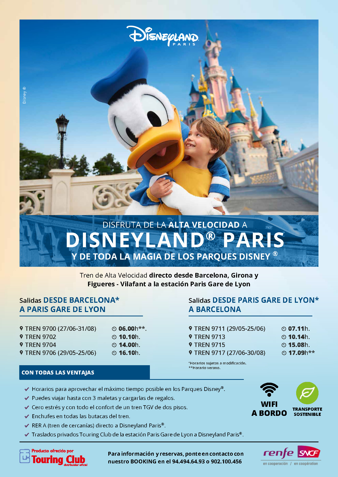 Guia Touring Club Disneyland Paris en tren 2020