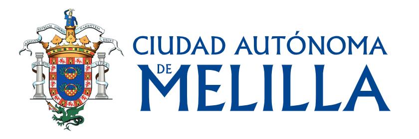 Logotipo Gobierno de la Ciudad Autónoma de Melilla 840x280