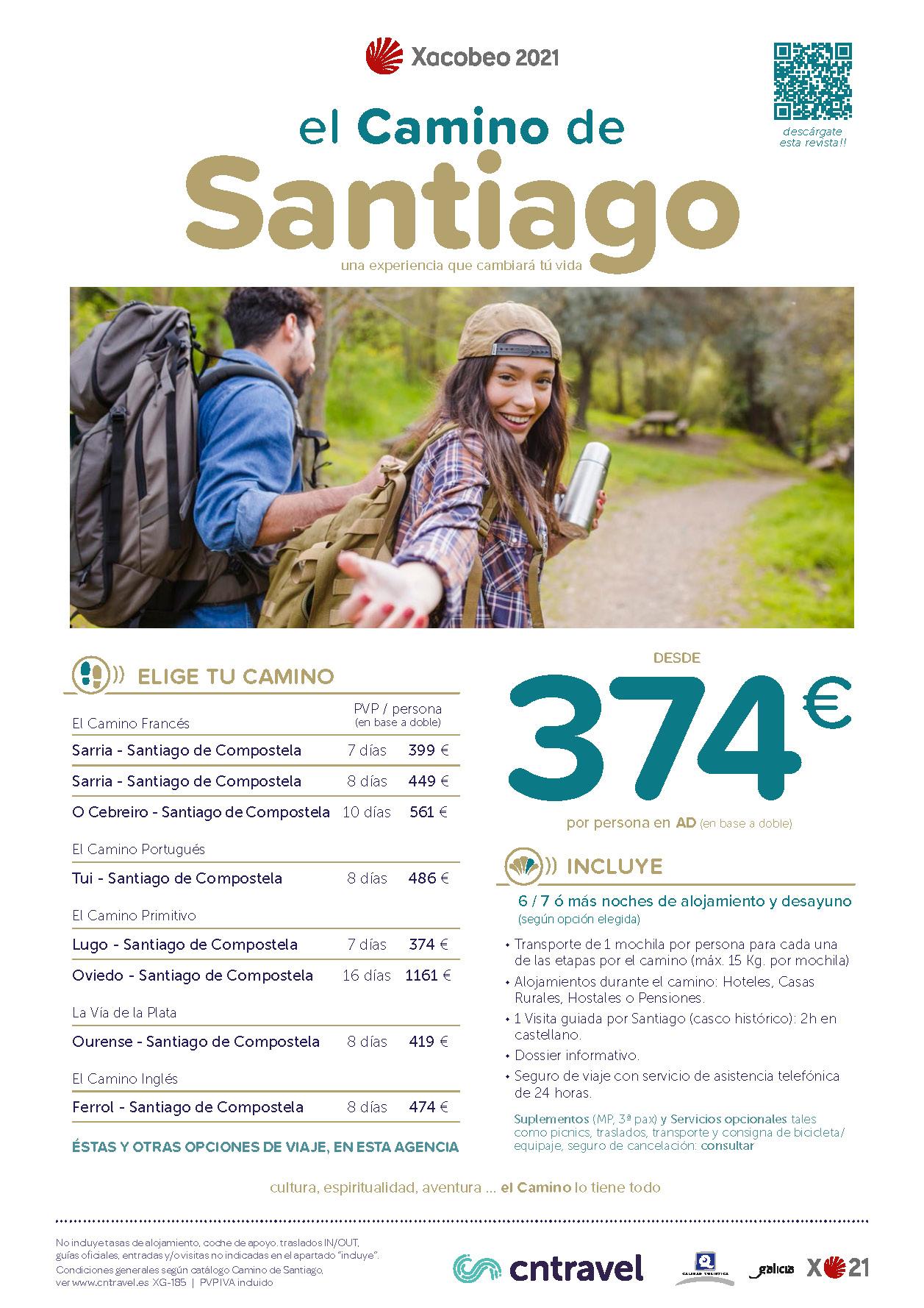 Oferta CN Travel Septiembre 2020 Camino de Santiago