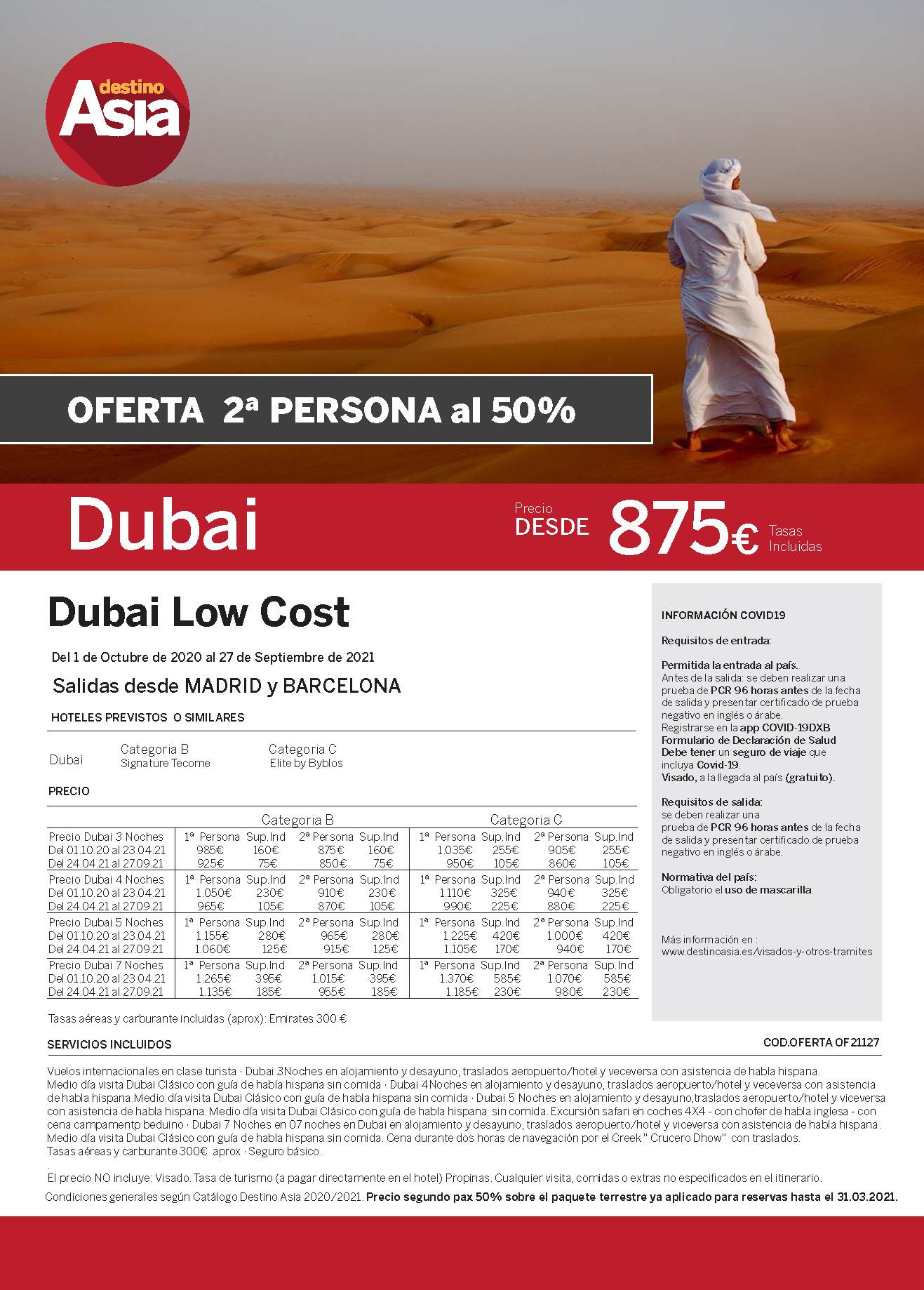 Oferta Destino Asia Dubai Low Cost 2021