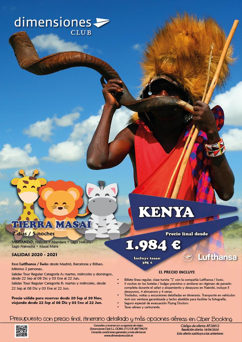 Oferta Dimensiones Club Kenia Tierra Masai Otono 2020 e Invierno y Primavera 2021