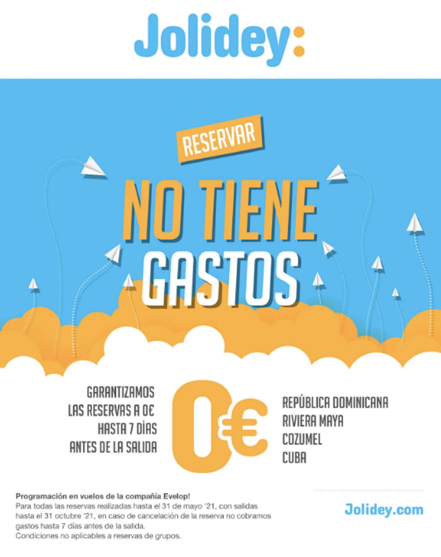 Oferta Jolidey verano 2021 Republica Dominicana Riviera maya Cozumel Cuba reservas sin gastos hasta 7 dias antes de la salida