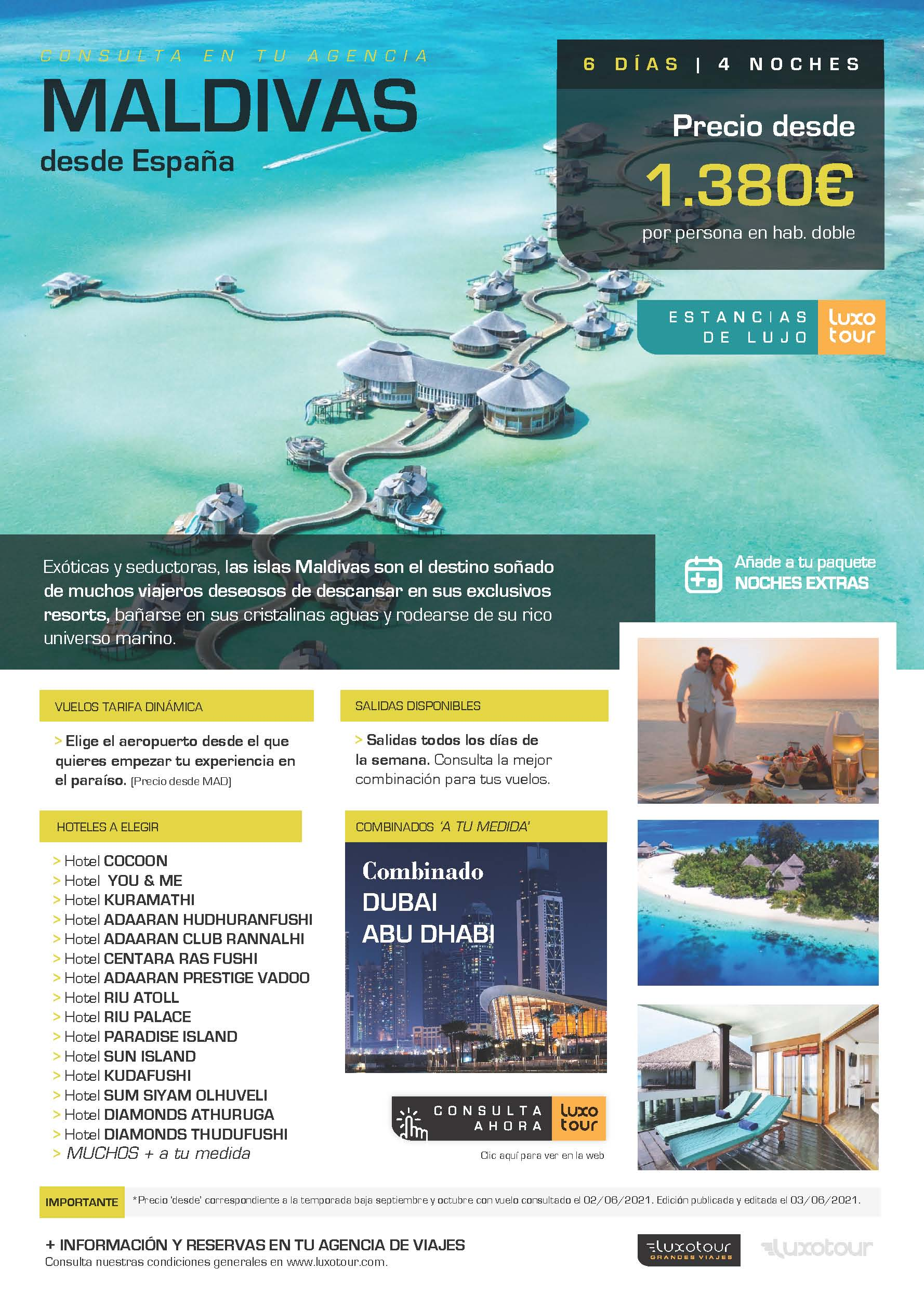 Oferta Luxotour Maldivas Verano y Otono 2021
