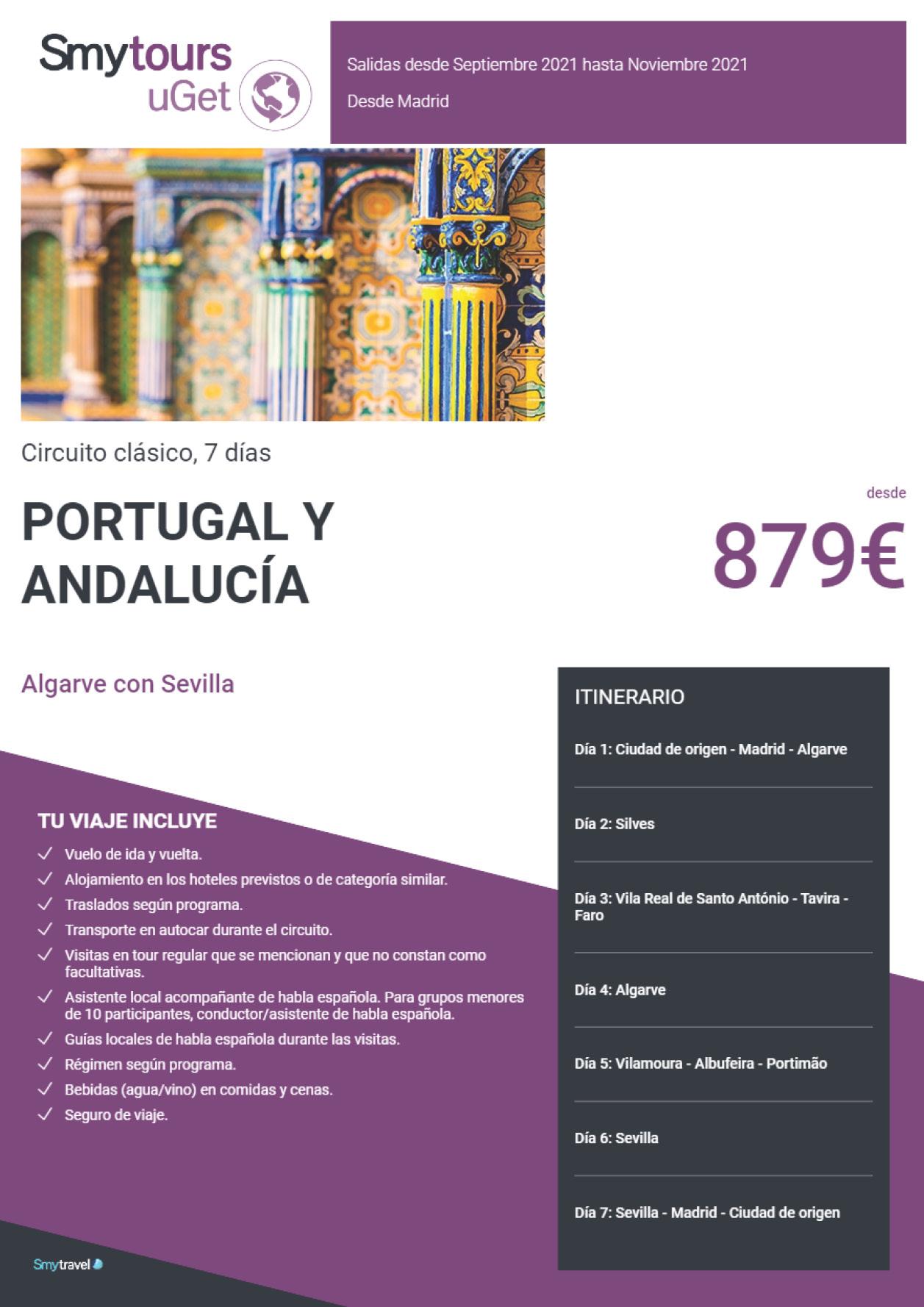 Oferta Smytravel Circuito Algarve con Sevilla 7 dias salidas Barcelona desde 879 €