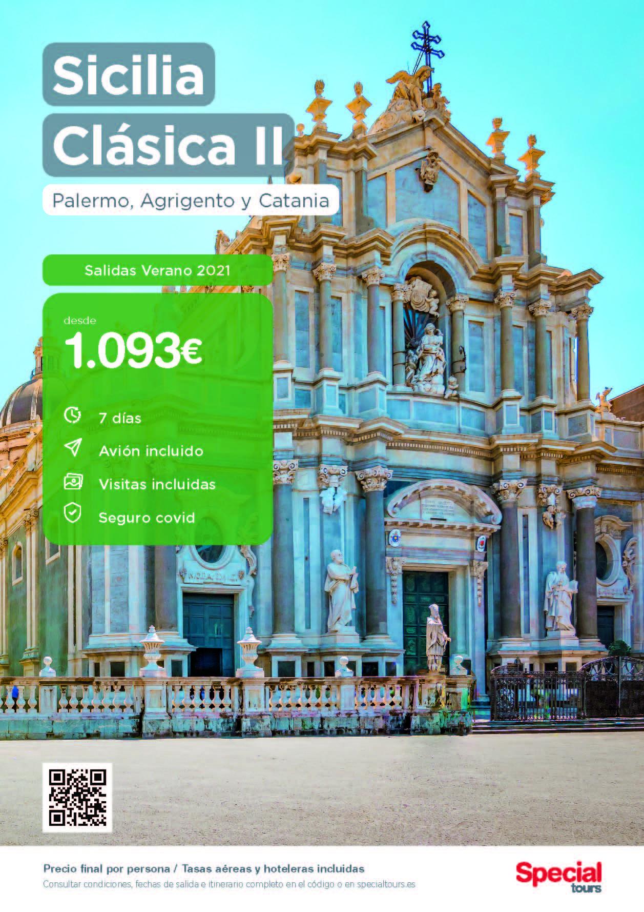 Oferta Special Tours Sicilia Clasica II Verano 2021 salidas Madrid