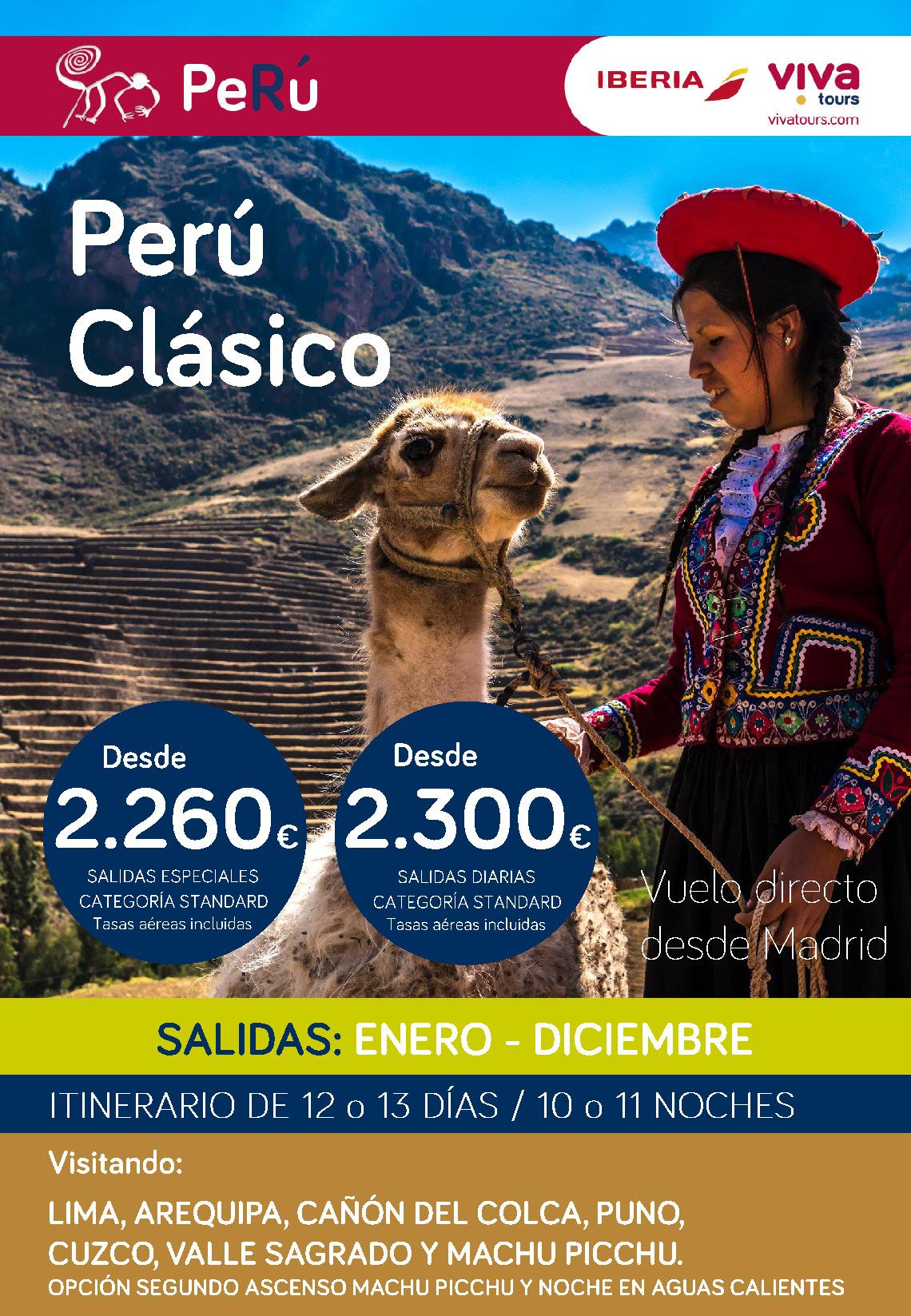 Oferta Viva Tours Peru Clasico Diciembre 2019 Enero 2020
