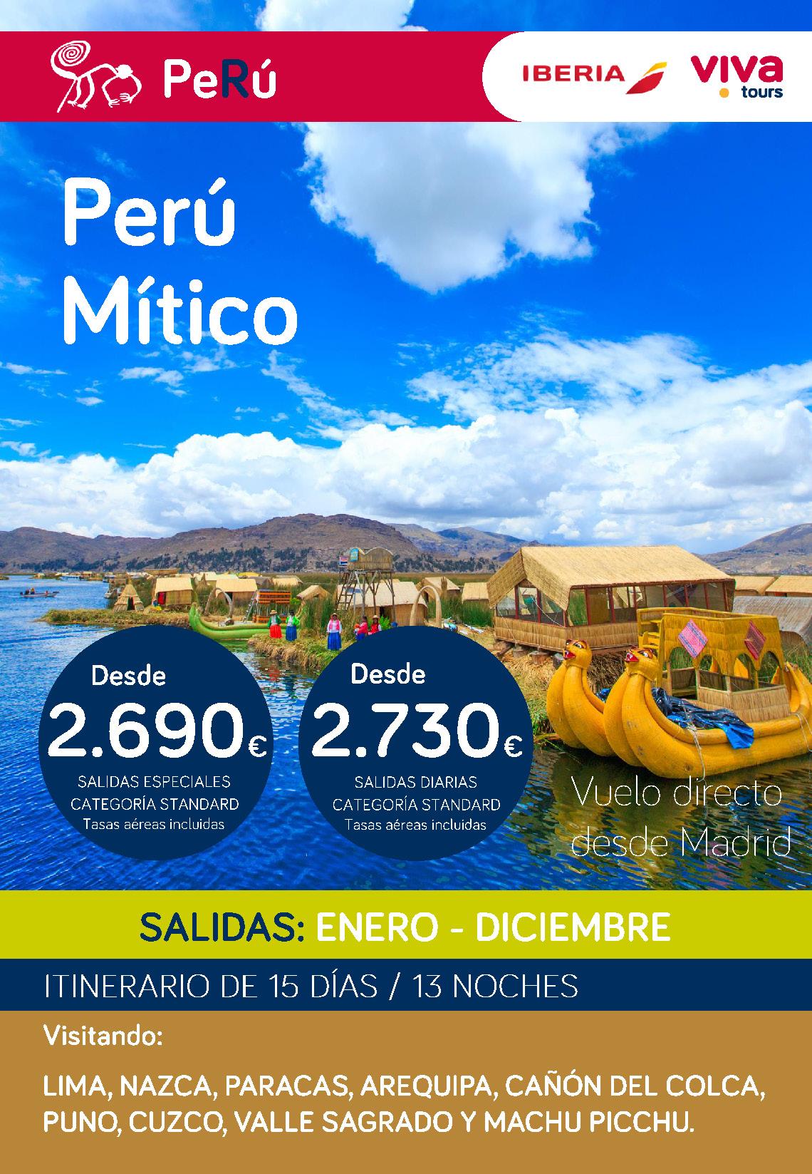 Oferta Viva Tours Peru Mitico Diciembre 2019 Enero 2020
