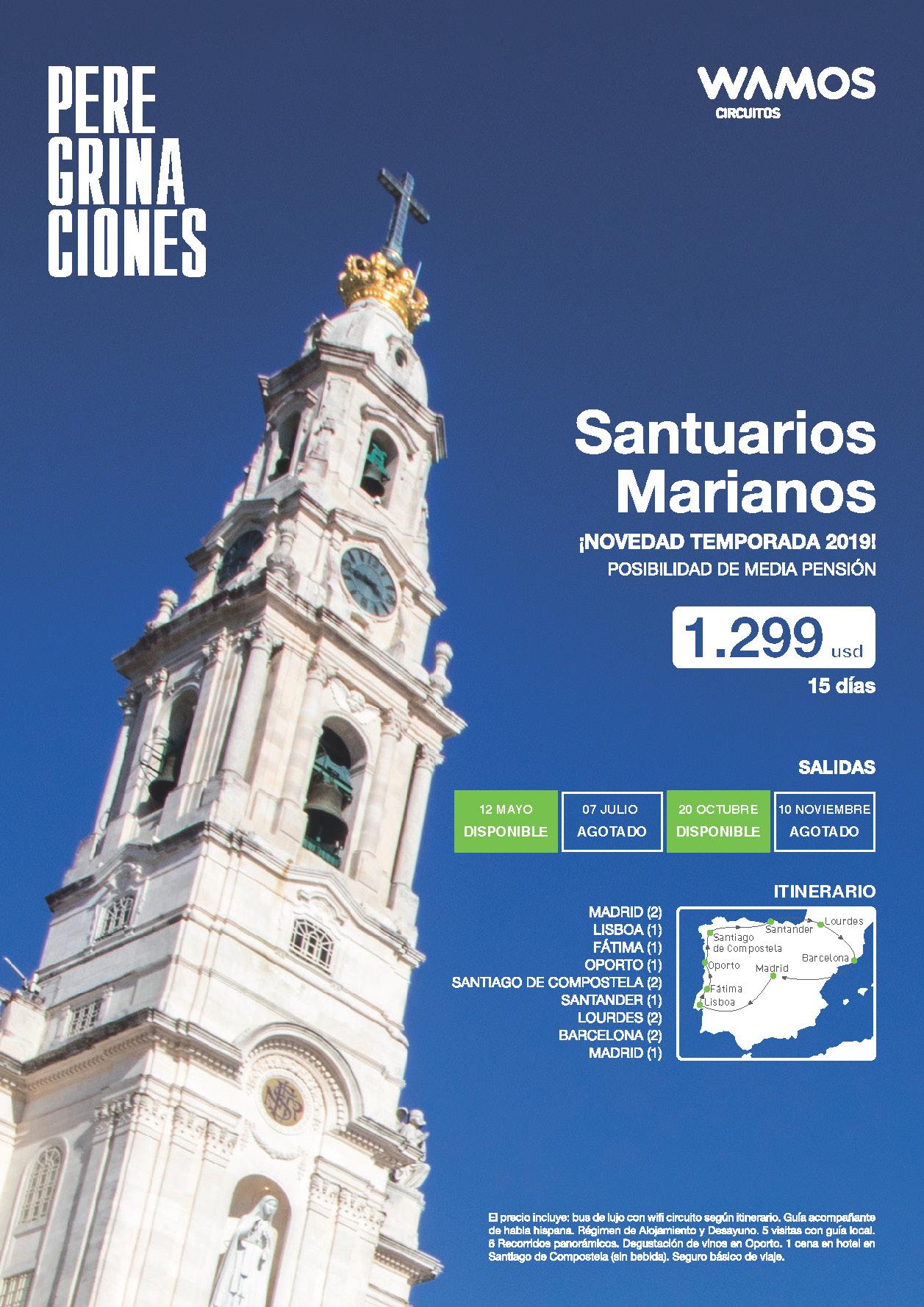 Oferta Wamos Circuitos Santuarios Marianos 2019