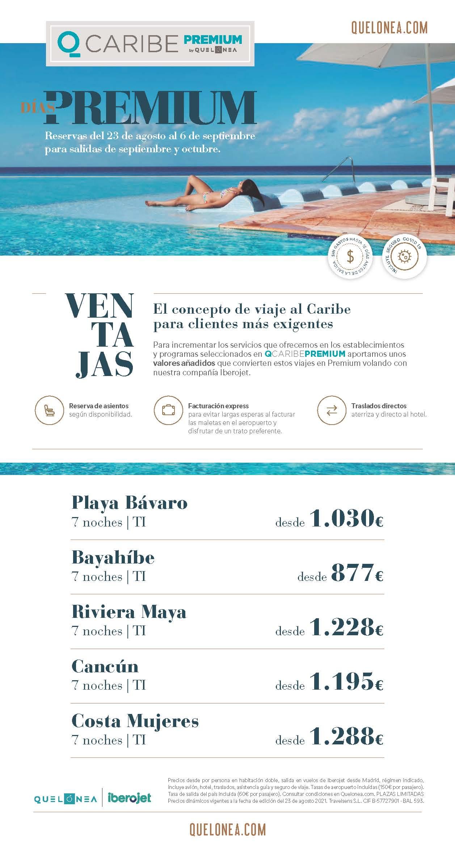 Ofertas Quelonea Caribe 2021 Dias Premium