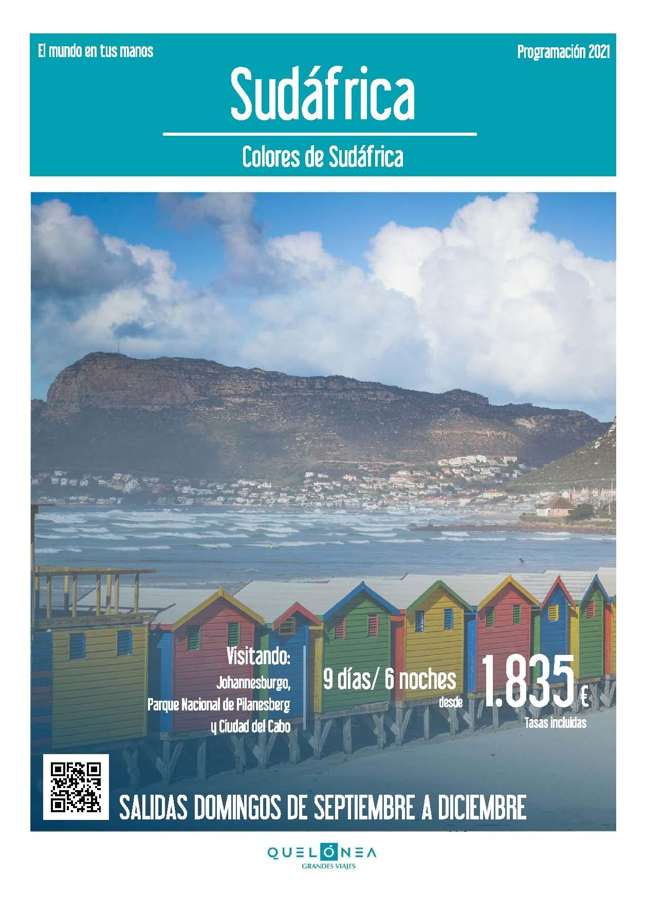 Ofertas Quelonea Colores de Sudafrica Agosto a Diciembre 2021