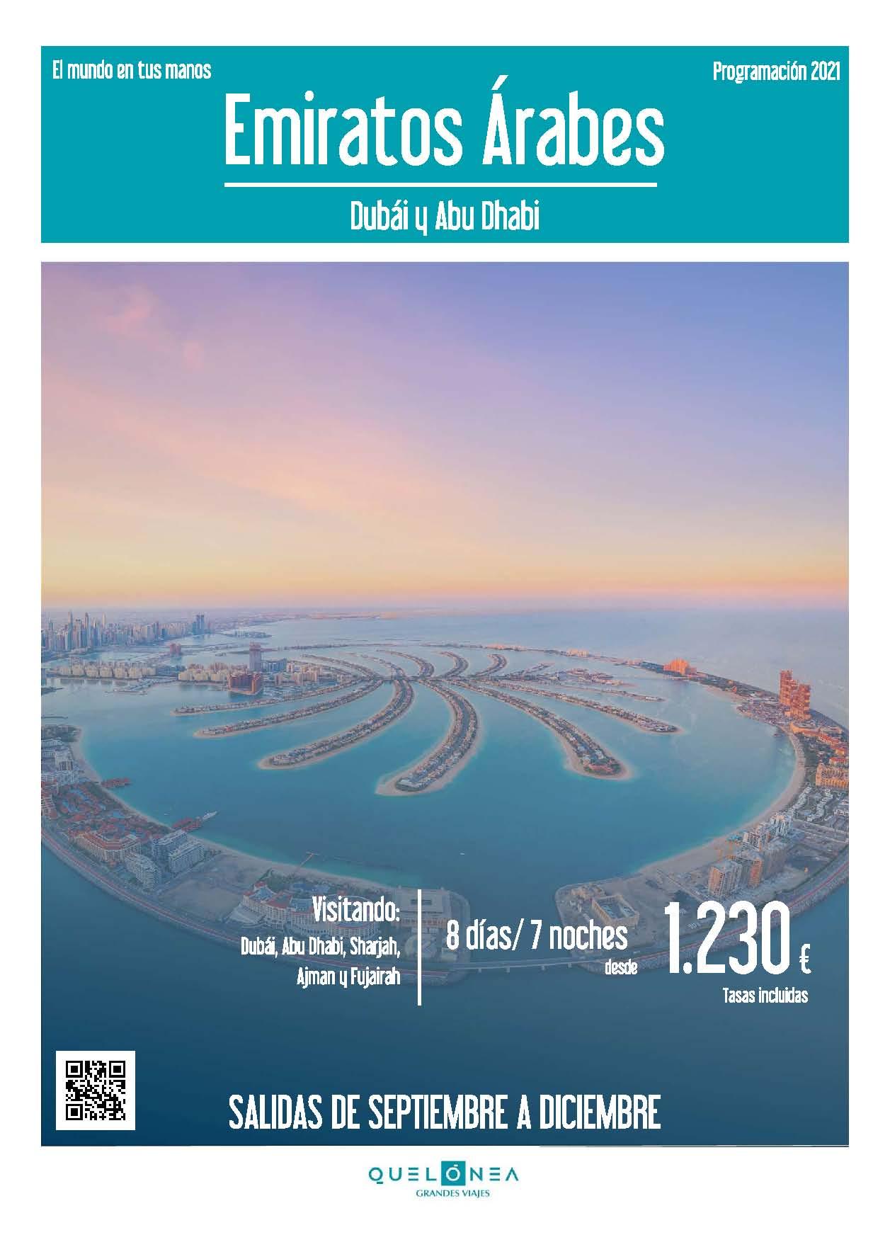 Ofertas Quelonea Emiratos Arabes 2021 vuelo directo desde Madrid