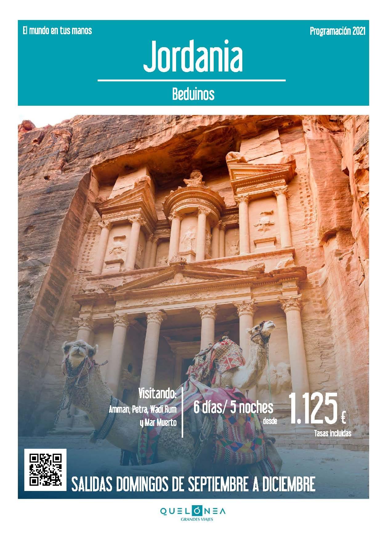 Ofertas Quelonea Jordania Beduinos Septiembre a Diciembre 2021