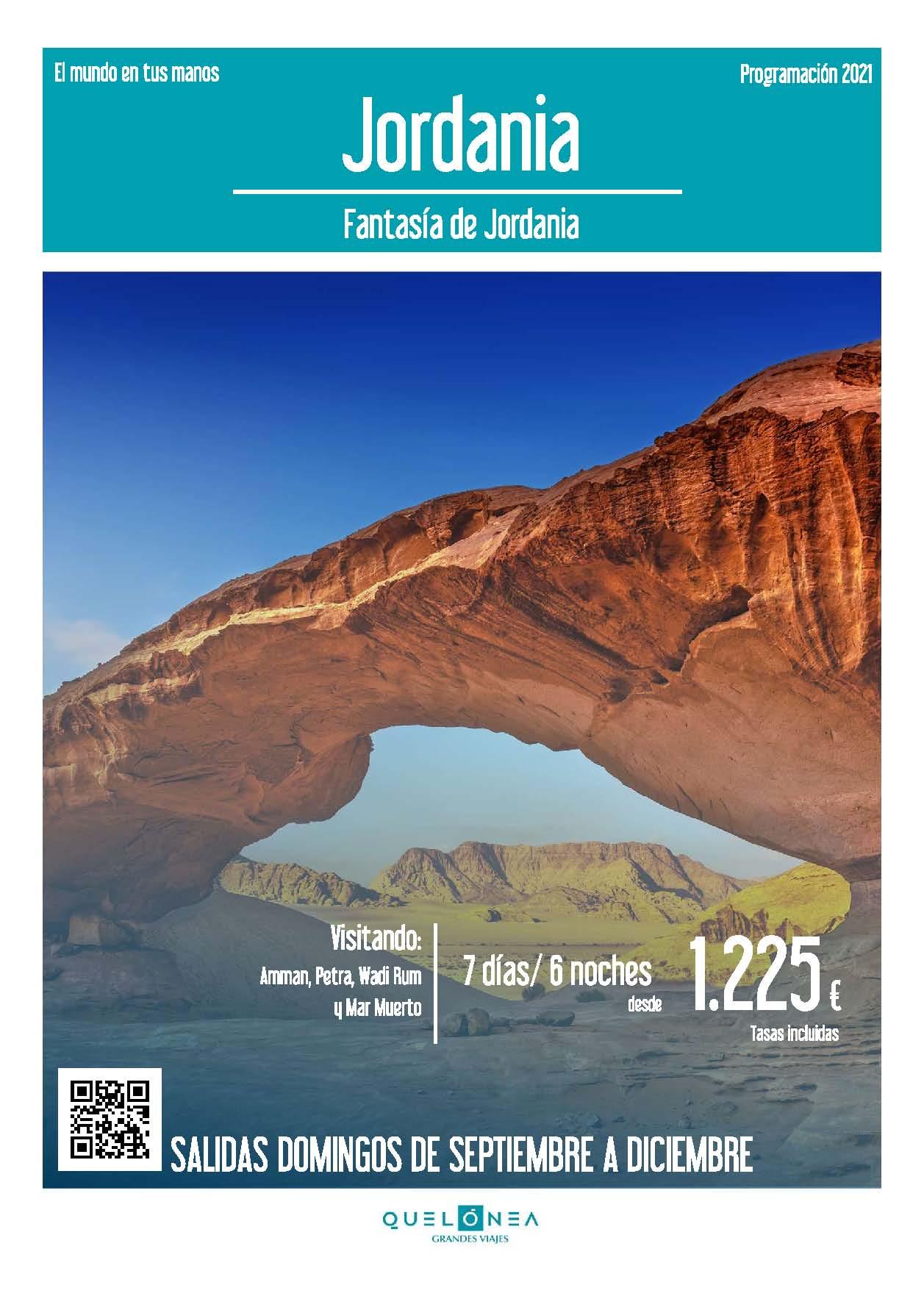 Ofertas Quelonea Jordania Fantasia de Jordania Septiembre a Diciembre 2021