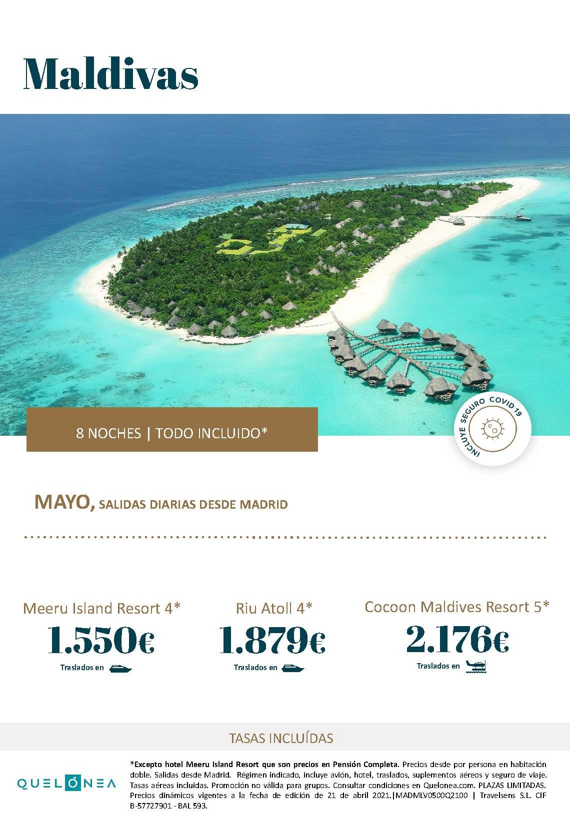 Ofertas Quelonea Maldivas Verano 2021 2