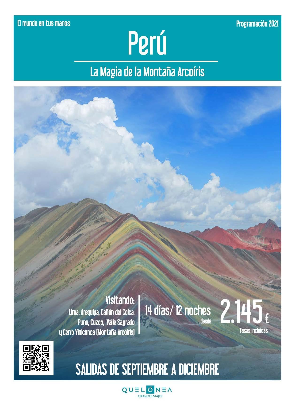 Ofertas Quelonea Perú La Magia de la Montaña Arco Iris Verano 2021