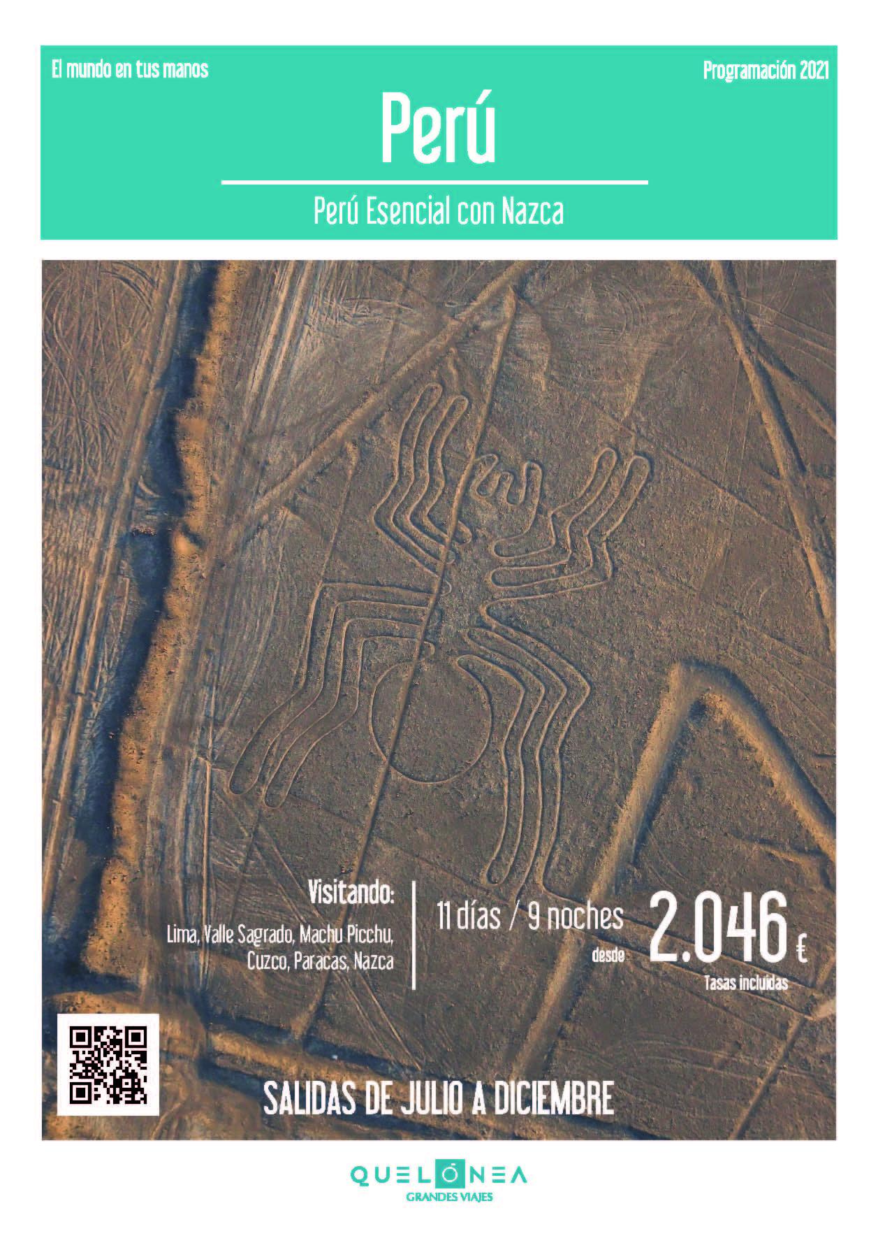 Ofertas Quelonea Peru Esencial con Nazca Verano y Otono 2021