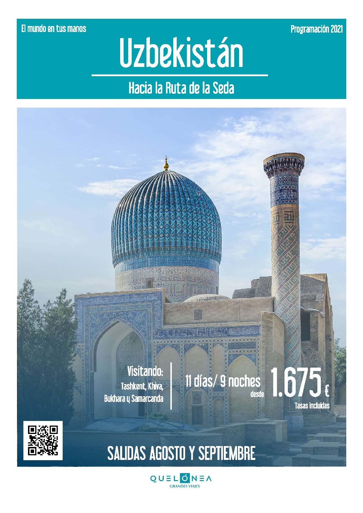 Ofertas Quelonea Uzbekistan Verano 2021salidas desde Madrid