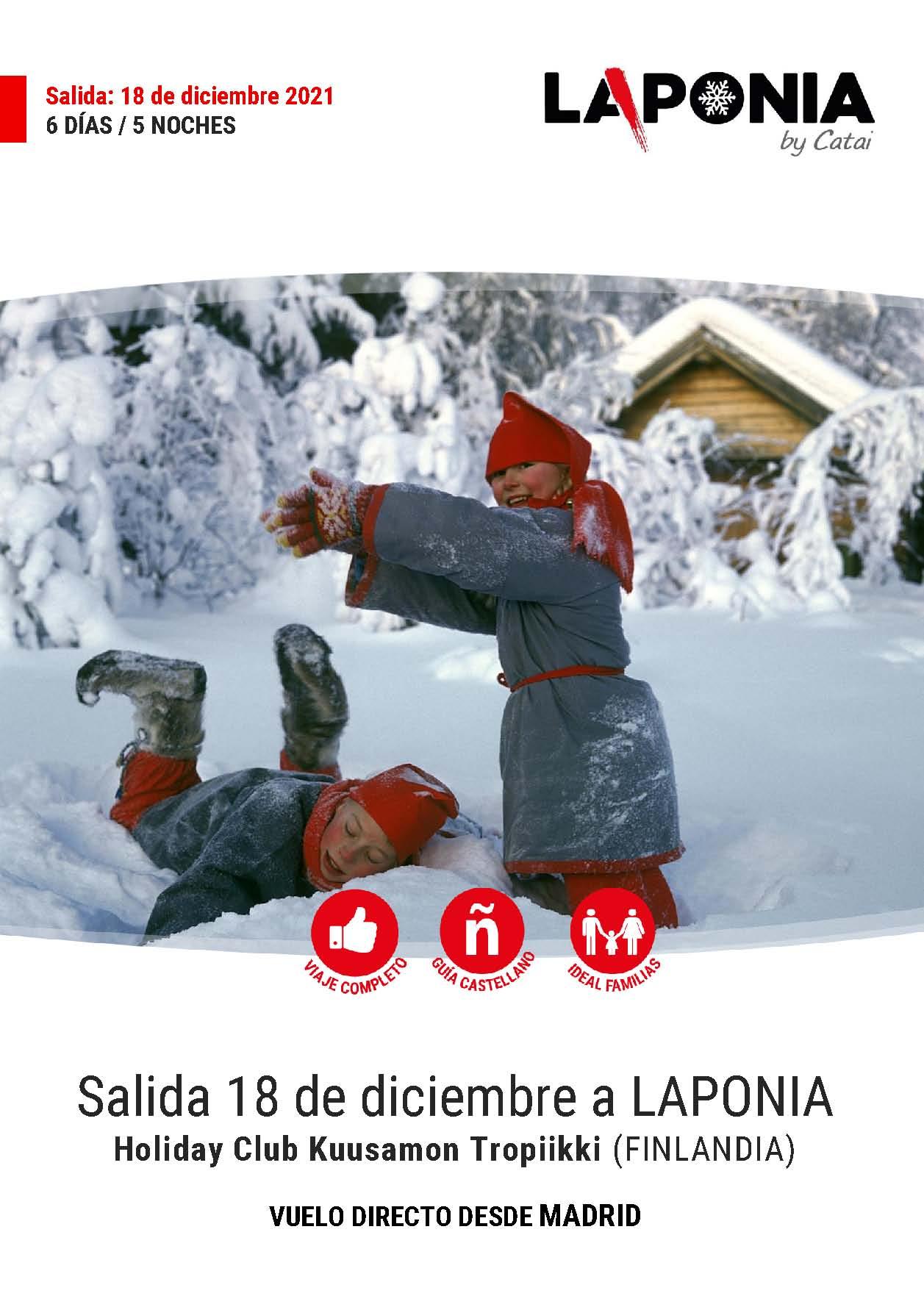 P Oferta Catai Diciembre Pre-Navidad 2021 en Kuusamo Laponia vuelo directo desde Madrid
