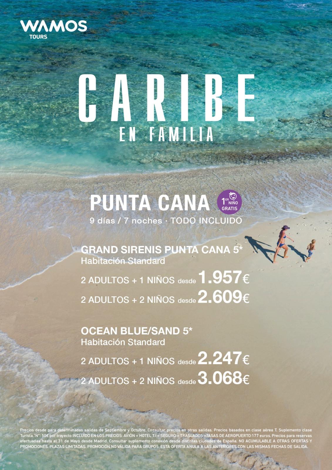 Superoferta Wamos Tours Familias Republica Dominicana Punta Cana Verano 2021