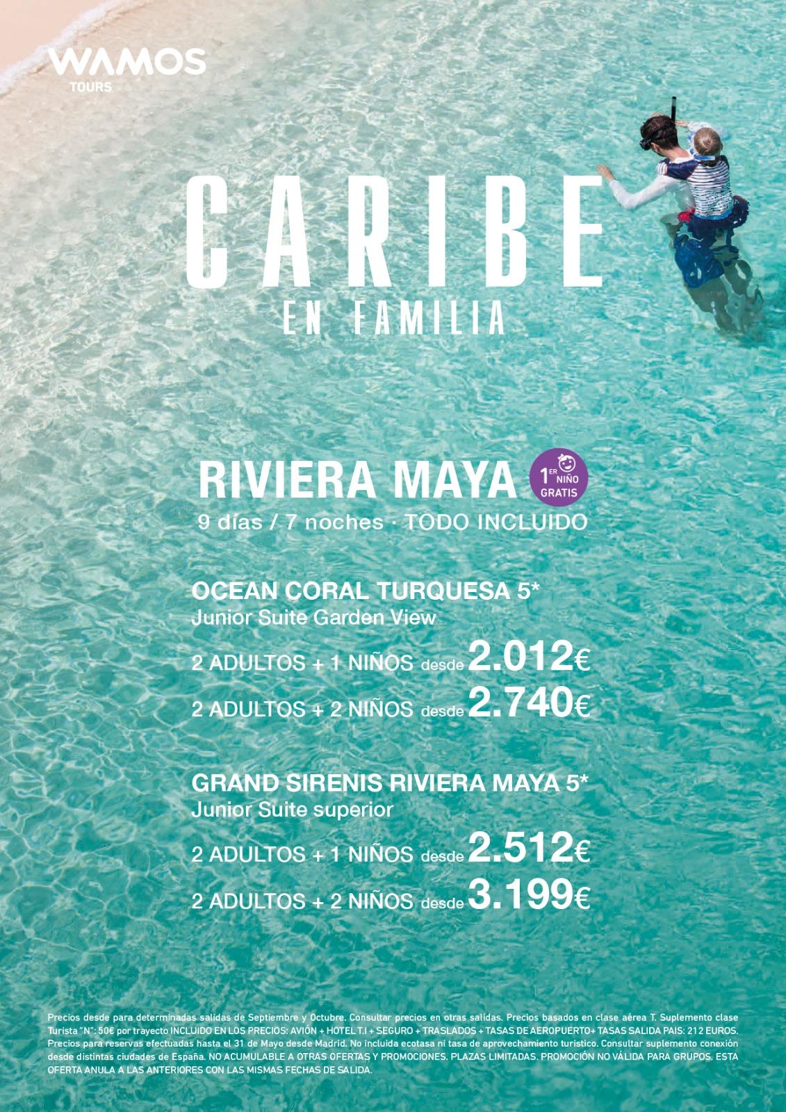 Superoferta Wamos Tours Familias Riviera Maya Verano 2021